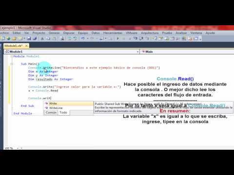 visual basic 2010 tutorials basic console applications