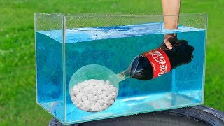 Experiment: Coca Cola and Balloon Under Water