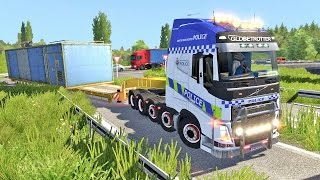 ETS2 - OVERSIZE LOAD | Volvo 10x8 + Police mod