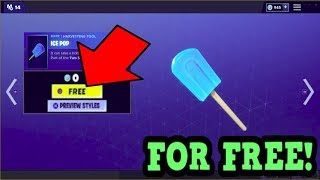 HOW TO GET *NEW* ICE POP PICKAXE FOR FREE! (Fortnite New Pickaxe)