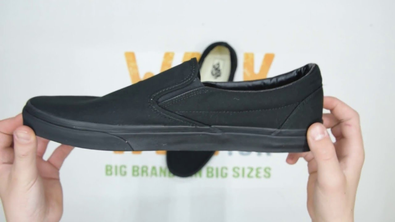 Vans Classic Slip-On - Black Black - Unboxing  79ea2e637
