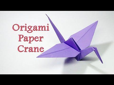 Easy Origami Crane tutorial - YouTube | 360x480