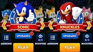 Sonic Dash SONIC VS KNUCKLES Android iPad iOS Gameplay HD