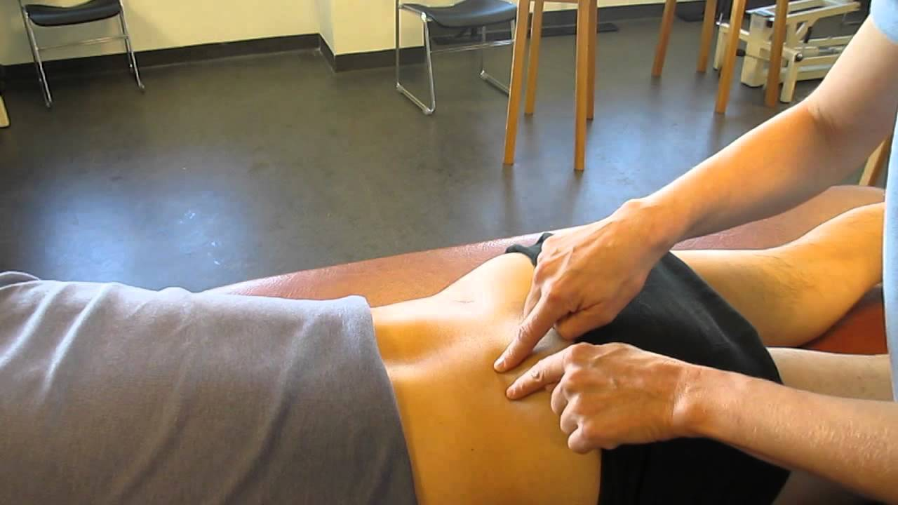 Sacroiliac Joint, Posterior Landmarks Palpation - YouTube