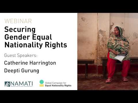 Webinar: Securing Gender Equal Nationality Rights