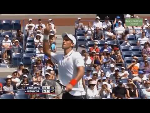 Kei Nishikori Vs Novak Djokovic   Us Open 2014 Semi final Highlights   YouTube