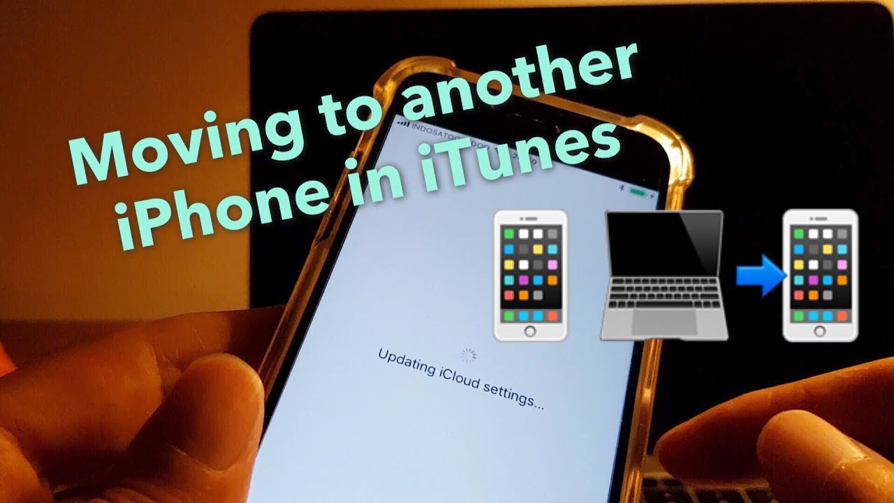 transfer contents from one iphone to another using itunes backup and
