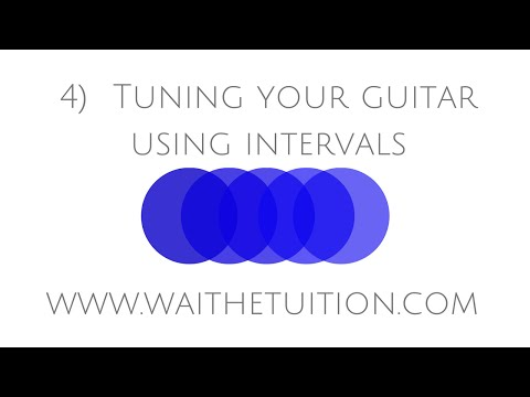 4) tuning your guitar using intervals
