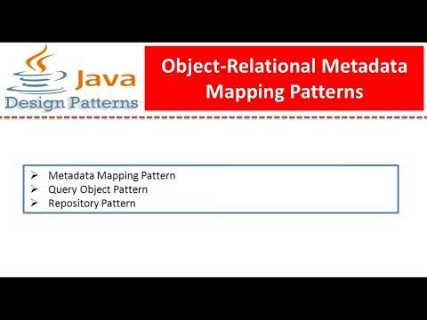 Object-Relational Metadata Mapping Patterns
