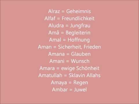 Islamische Namen Für Mädchen /Babys Und Konvertiten :)