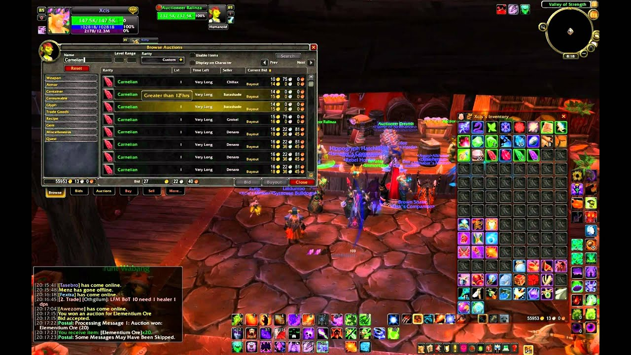 wow cataclysm how to make money jewelcrafting and mining gameplay commentary