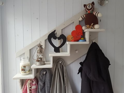 Easy Pallet Wood Projects Staircase Shelf