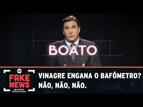 SBT Contra Notícias Falsas: Vinagre engana o bafômetro? Não.