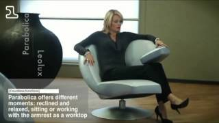 видео Дизайнерское кресло Lotus (черное) 636 Ego