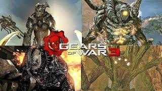 GEARS OF WAR 3 - ALL BOSS BATTLES + DLC
