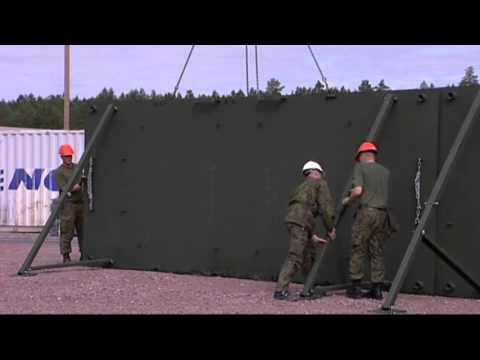 Fast military fortification system