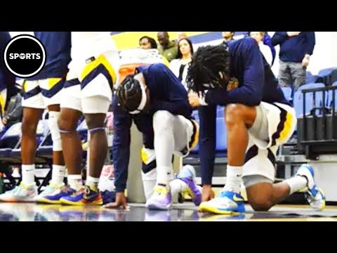 Basketball Players Take A Knee During National Anthem