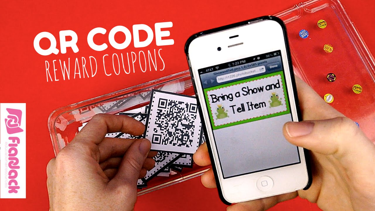 qr code reward behavior coupons freebie youtube. Black Bedroom Furniture Sets. Home Design Ideas