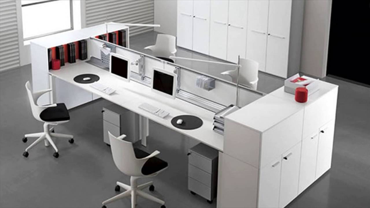 Interior design office furniture youtube for Office table 3d design