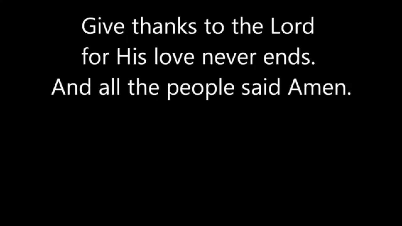 All the people said amen by matt maher with lyrics youtube hexwebz Images