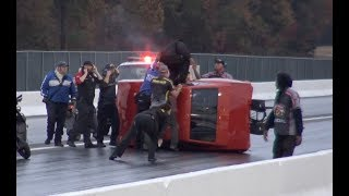 CRAZY WRECKS - Insanely Close Call (Camera Man Escapes Wreck by Inches!) Video