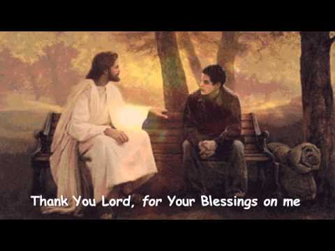Thank You Lord, for Your Blessings on me