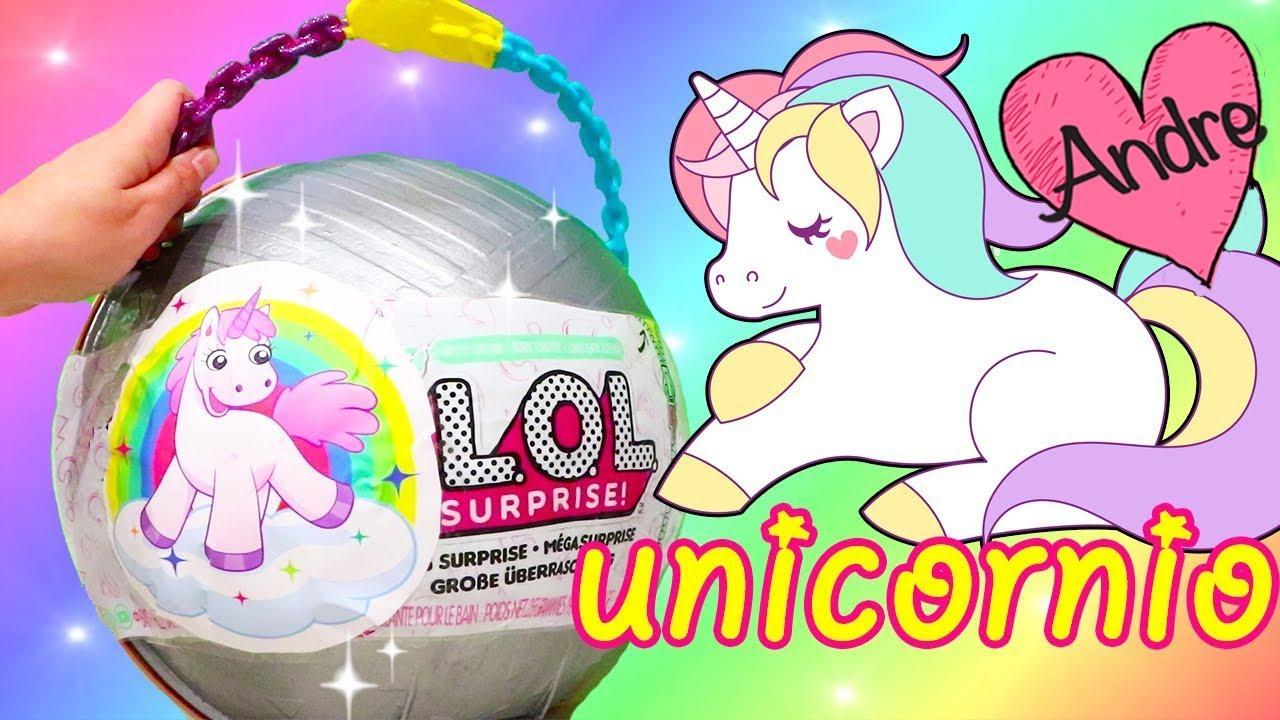 Bola Gigante De Unicornio Con Bebes Lol Jugando Munecas Y Juguetes