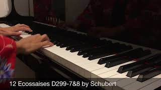 12 Ecossaises D299-7&8 by Schubert