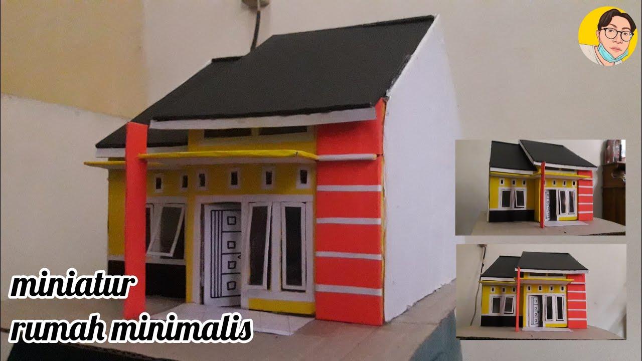 Cara Membuat Miniatur Rumah Minimalis Dari Kardus Bekas Part 2 Youtube