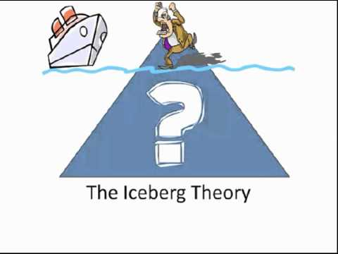 iceberg theory Hemingway wrote regarding his iceberg theory: if a writer of prose knows enough of what he is writing about he may omit things that he knows and the reader, if the writer is writing truly enough .