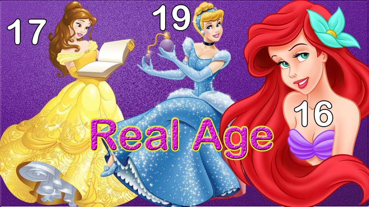 Disney Princesses Real Age Disney Princesses Characters Youtube
