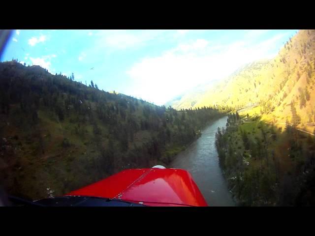 Mackay Bar, ID - ID28 (PVT) - Approach and Landing ( Idaho backountry ) HD