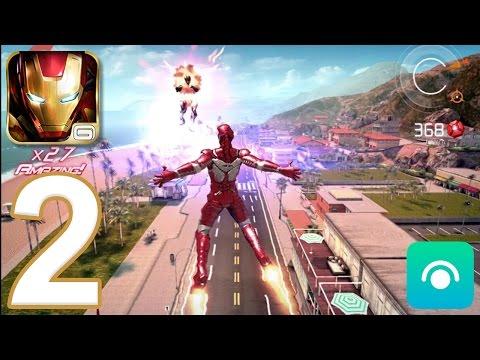 Iron Man 3: The Official Game - Gameplay Walkthrough Part 2 - EZEKIEL STANE! (iOS, Android)