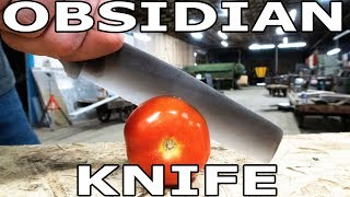 Worlds Sharpest Knife Obsidian vs 60,000 PSI Waterjet