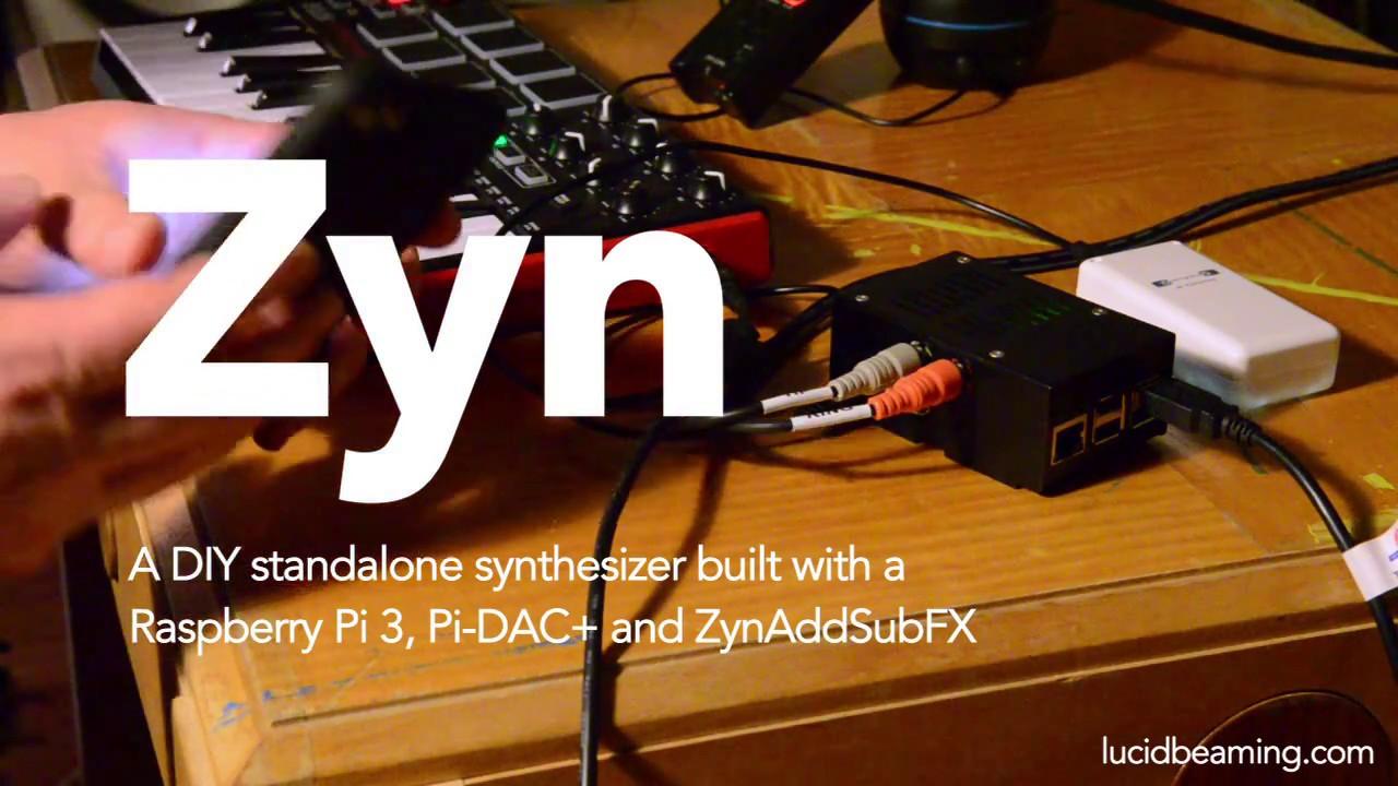 DIY Raspberry Pi synth with ZynAddSubFX