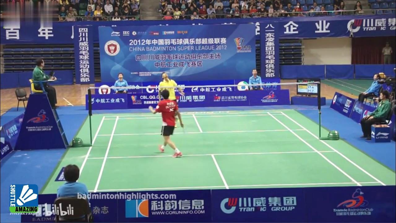 Lin Dan MASTERCLASS | Lin Dan vs Zhu Siyuan | CBSL 2012