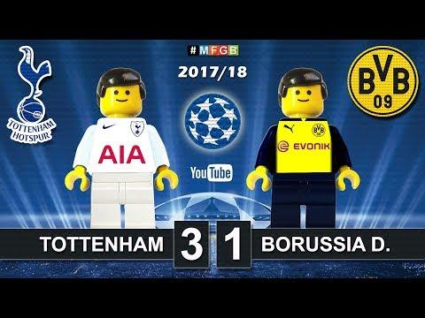 Tottenham vs Borussia Dortmund 3-1 • Champions League 2018  (13/09/2017) • Goals Highlights Lego