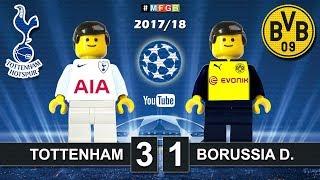 Tottenham vs Borussia Dortmund 3-1 • Champions League 2017/2018 • Goals Highlights Lego (13/09/2017)