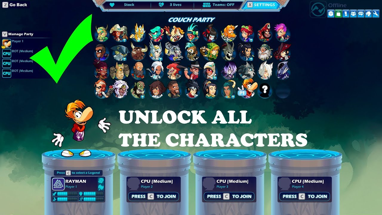 UNLOCK ALL CHARACTERS | BRAWLHALLA ALL VERSIONS [Updated]