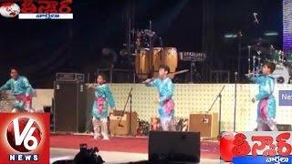 V6 Telangana Songs Performed at India Day 2015 Celebrations | Uganda | Teenmaar News | V6News