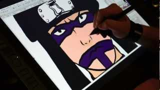 Drawing Kankuro From Naruto On The Wacom Cintiq 21ux