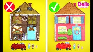 BAD HOUSE vs GOOD HOUSE EASY PAPERCRAFTS FOR KIDS HANDMADE TOYS