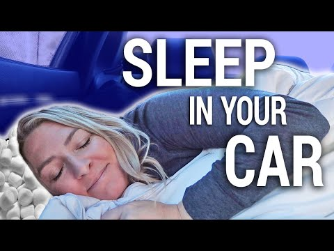 How To Sleep In A Car Comfortably (CAR MATTRESS DEMONSTRATION) | Travel Snacks