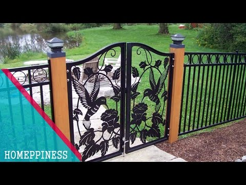 (NEW DESIGN 2017) 30+ Modern Metal / Iron Fence Gates Ideas