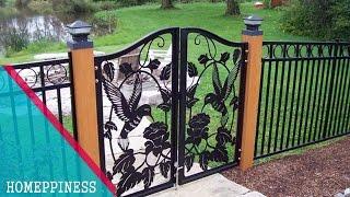 New Design 2017  30+ Modern Metal / Iron Fence Gates Ideas