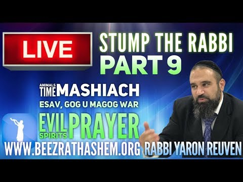 STUMP THE RABBI PART 9 Animals, TIME, MaShiach, Esav, Gog UmaGog War, Evil Spirits, Prayer