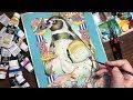 【アクリルガッシュ】ペンギンの色塗りメイキング:Painting of penguin