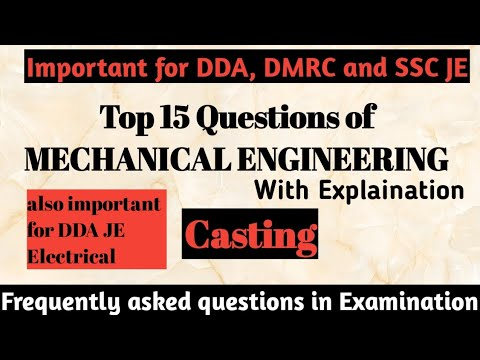 Most important Questions Mechanical Engineering with Solution~ Casting