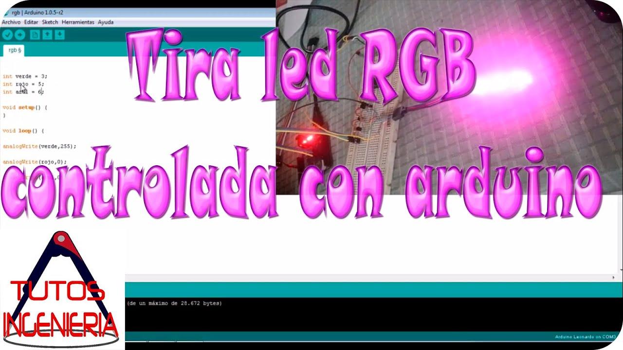 Tira led rgb controlada con arduino youtube - Tiras de led rgb ...