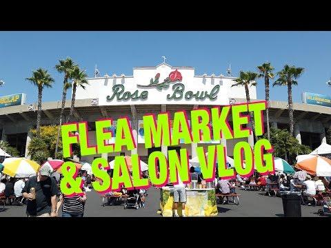 Rose Bowl Flea Market and Salon Vlog!